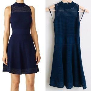 Milly Knit Navy Hourglass sleeveless dress - SMALL